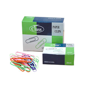 Class Colored Paper Clips 28mm / 100pcs